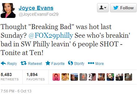 Evans' Tweet