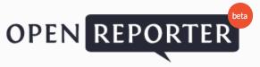 Open Reporter logo