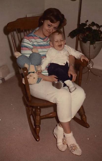 Me and my mother, circa 1964